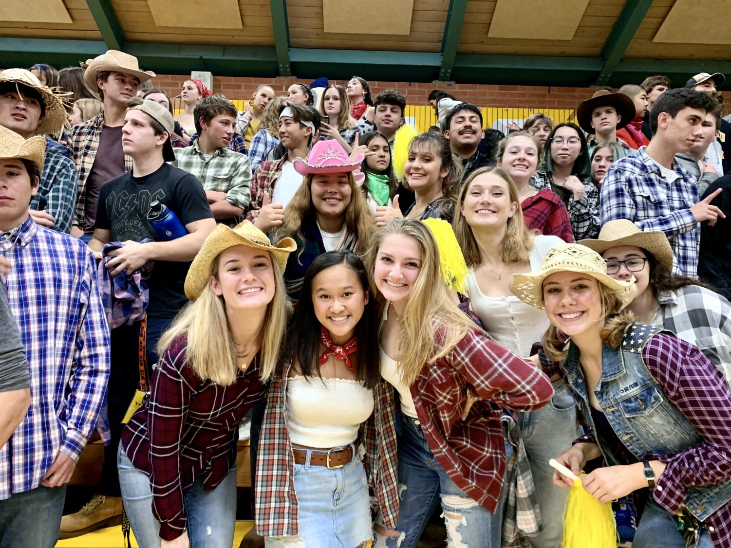The Novato crowd at the game dressed up for the wild west theme