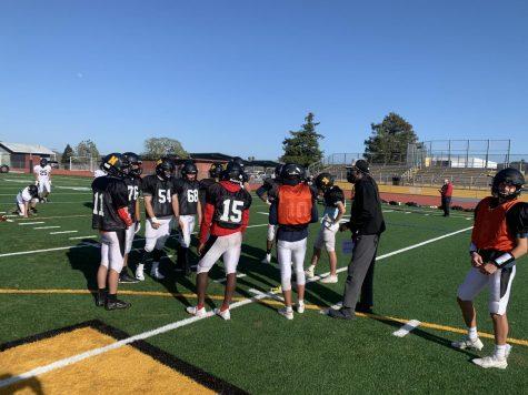 Novato High Varsity Football Practices With Their New Coach, Amil Hall.