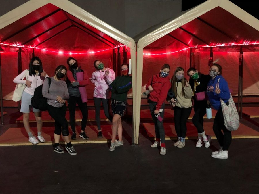 Love2Dance celebrates their new outdoor amenities for practicing during the coronavirus pandemic. Pictured: All Star Competition Dance Team (Ages 16-18).
