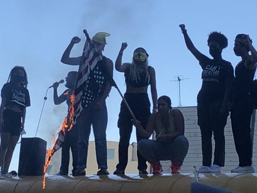 Protesters in front of Hall of Justice, June 3, 2020.