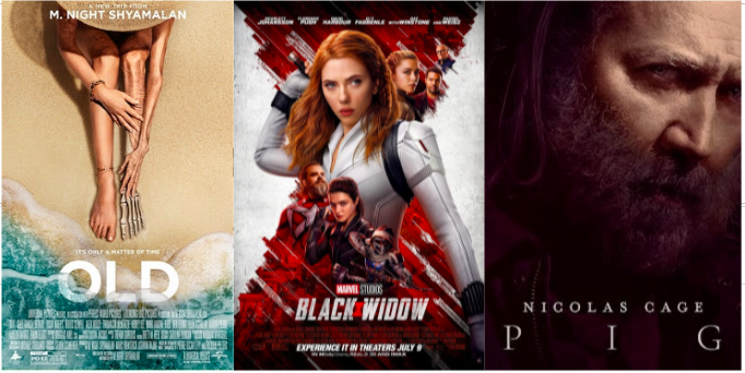 Summer Movie Reviews: Black Widow, Old, and Pig